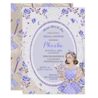 Retro Vintage Housewife 50's Bridal Shower Light Card