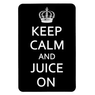 Retro Vintage Keep Calm and Juice On Black Magnet
