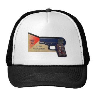 Retro Vintage Kitsch 30s Funeral Molasanti Pistol Trucker Hat