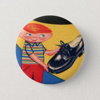 Retro Vintage Kitsch 50s Shoe Shine Boy Ad Art 2 Inch Round Button