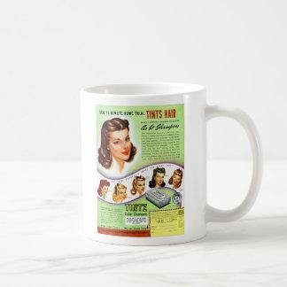 Retro Vintage Kitsch 50s Tintz Haircolor Ad Basic White Mug