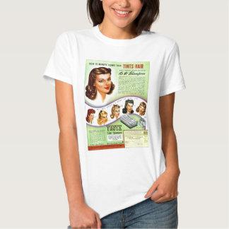 Retro Vintage Kitsch 50s Tintz Haircolor Ad Shirt