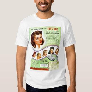 Retro Vintage Kitsch 50s Tintz Haircolor Ad T Shirt