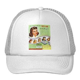 Retro Vintage Kitsch 50s Tintz Haircolor Ad Trucker Hat