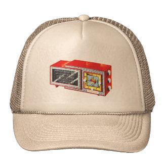 Retro Vintage Kitsch 50s Tymatic Clock Radio Set Trucker Hat