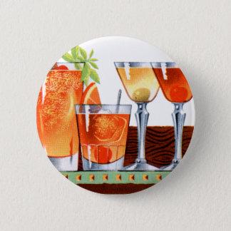 Retro Vintage Kitsch 60s Cocktails Drinks Martinis 2 Inch Round Button