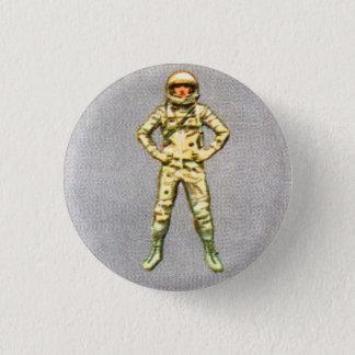 Retro Vintage Kitsch 60s Space Astronaut 6' Man 1 Inch Round Button