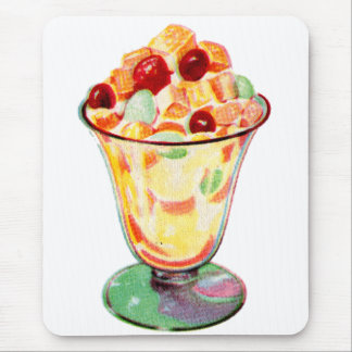 Retro Vintage Kitsch Advertising Fruit Cocktail Mouse Pad