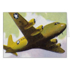 Retro Vintage Kitsch Airplane Planes C-54 Bomber Card