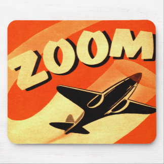 Retro Vintage Kitsch Airplane Planes Zoom Mousepads