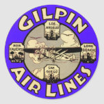 Retro Vintage Kitsch Airplanes Gilpin Airlines Stickers