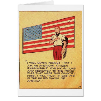 Retro Vintage Kitsch America 50s Communist Comic Card