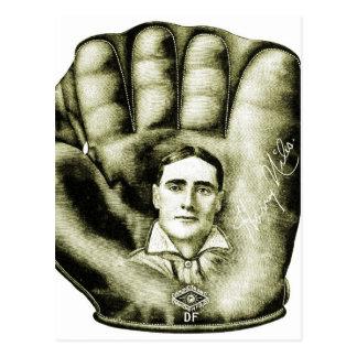 Retro Vintage Kitsch Baseball Glove Nibs Ad Art Postcard