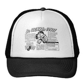 Retro Vintage Kitsch Be Lucky In Love Romance Ad Trucker Hats