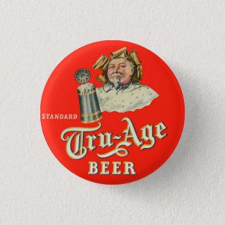 Retro Vintage Kitsch Beer Ale Tru-Age Scranton 1 Inch Round Button