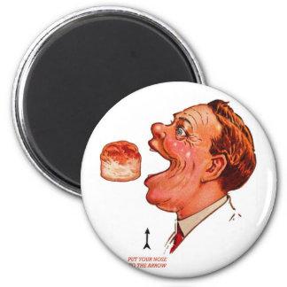 Retro Vintage Kitsch Biscuit Bob Optical Illusion 2 Inch Round Magnet