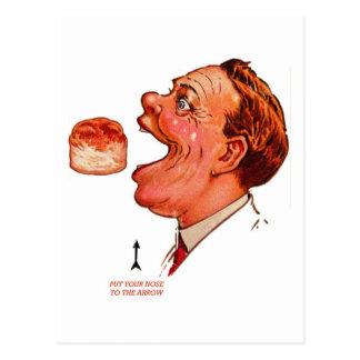 Retro Vintage Kitsch Biscuit Bob Optical Illusion Postcard