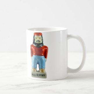 Retro Vintage Kitsch Ceramic Paul Bunyan Coffee Mug