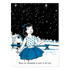 Retro Vintage Kitsch Childrens Book 1000s of Stars Postcard