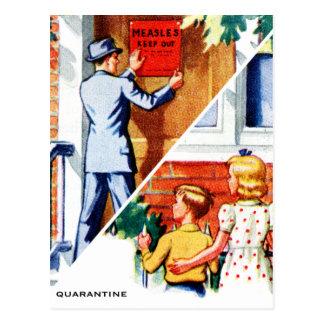 Retro Vintage Kitsch Childrens Book Measles Sick Postcard