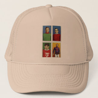 Retro Vintage Kitsch Cigarette Card Field Hockey Trucker Hat