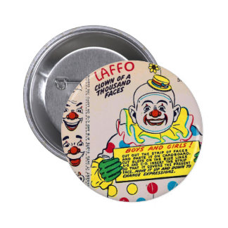 Retro Vintage Kitsch Clown of 1,000 Faces Laffo Pins