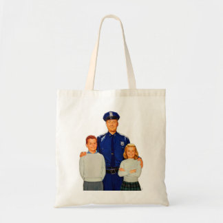 Retro Vintage Kitsch Cop Police Are Your Friends Tote Bags