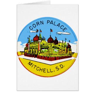 Retro Vintage Kitsch Corn Palace South Dakota Card