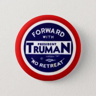 Retro Vintage Kitsch Democrats Forward With Truman 2 Inch Round Button