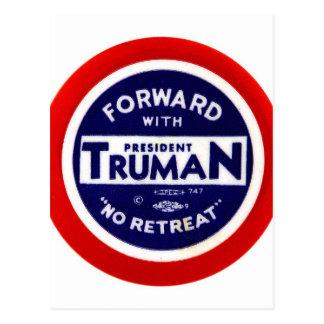 Retro Vintage Kitsch Democrats Forward With Truman Postcard