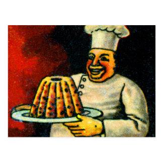 Retro Vintage Kitsch Dutch Alphabet bak-ker Baker Postcard