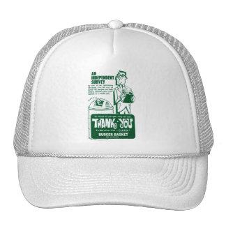 Retro Vintage Kitsch Fast Food Hamburger Thank You Trucker Hat