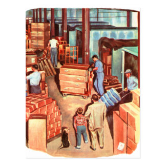 Retro Vintage Kitsch Fifties Factory Manager Dad Postcard