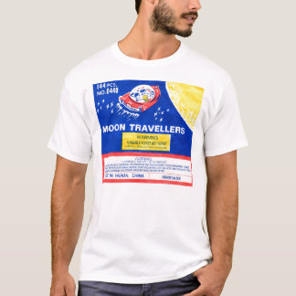 Retro Vintage Kitsch Firework Rocket Moon Traveler T-Shirt
