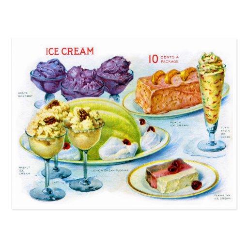 Retro Vintage Kitsch Food 30s Gelatin Desert Art Post Card