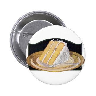 Retro Vintage Kitsch Food Coconut Cream Pie 2 Inch Round Button