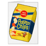 Retro Vintage Kitsch Food Crisps Potato Chips Bag Greeting Cards