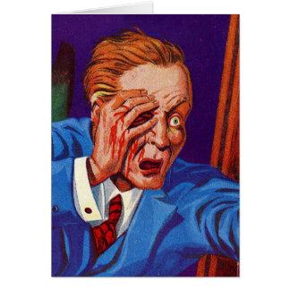 Retro Vintage Kitsch Horror My Eye! My Eye! Card