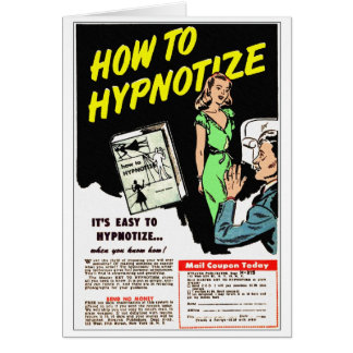 Retro Vintage Kitsch How To Hypnotize Comic Ad Card
