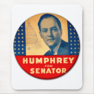 Retro Vintage Kitsch Humphrey For Senate Button Mouse Pad
