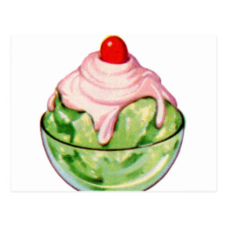 Retro Vintage Kitsch Ice Cream Soda Fountain Treat Postcard