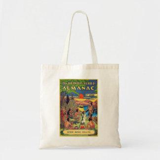 Retro Vintage Kitsch Illinois Herb Company Almanac Canvas Bags