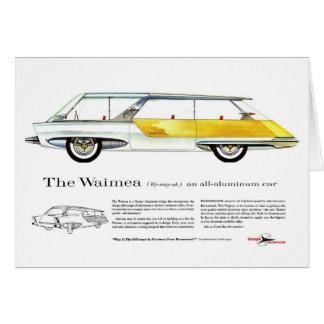 Retro Vintage Kitsch Kaiser Waimea Concept Car Greeting Card