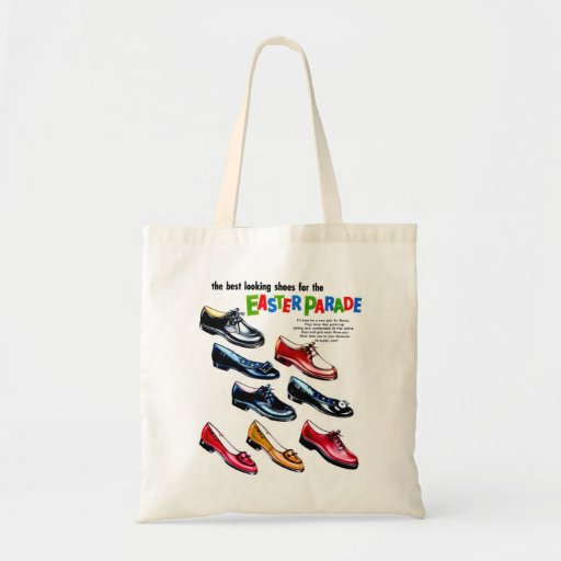 Retro Vintage Kitsch Kids Shoes Easter Parade Bags