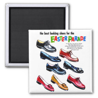 Retro Vintage Kitsch Kids Shoes Easter Parade Refrigerator Magnets