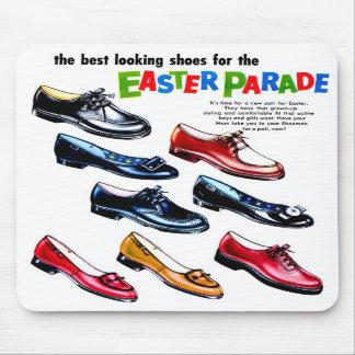 Retro Vintage Kitsch Kids Shoes Easter Parade Mousepad