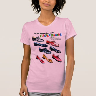 Retro Vintage Kitsch Kids Shoes Easter Parade T Shirts