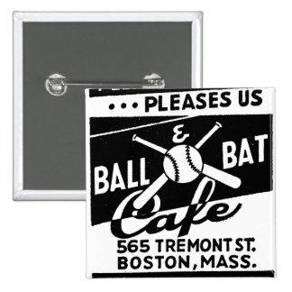 Retro Vintage Kitsch Matchbook Ball & Bat Cafe Pins