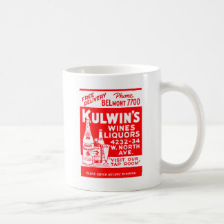 Retro Vintage Kitsch Matchbook Kulwin's Liquors Coffee Mug