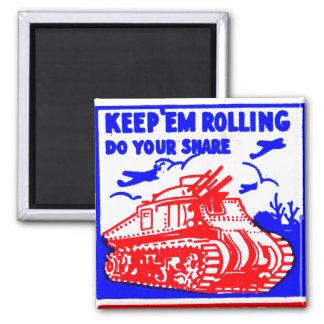 Retro Vintage Kitsch Matchbook Victory Bonds Tank Magnet